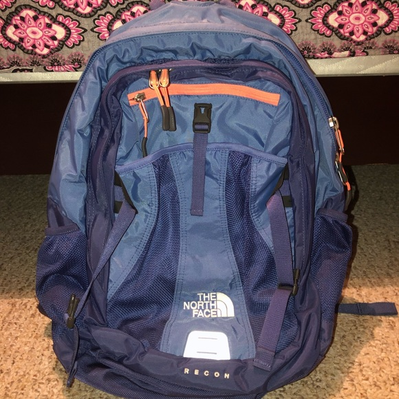 85d7e025e NWOT North Face Recon Backpack - blue with orange
